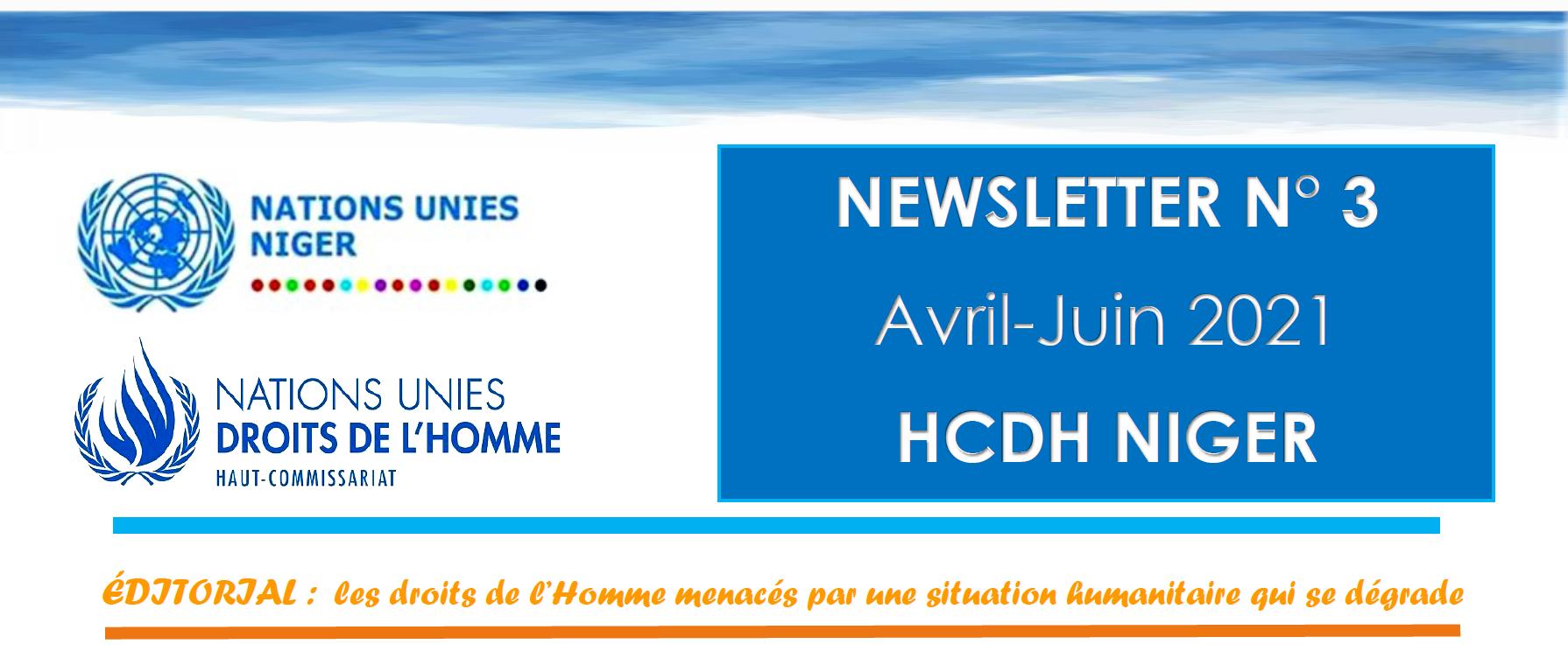 NEWSLETTER N° 3 Avril-Juin 2021 HCDH NIGER